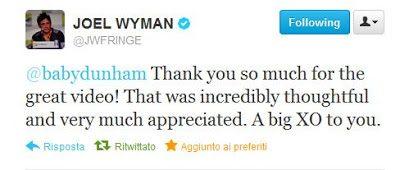 Thank you Joel Wyman